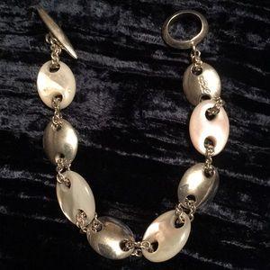 Ralph Lauren (RL) Sterling Silver Pearl Bracelet